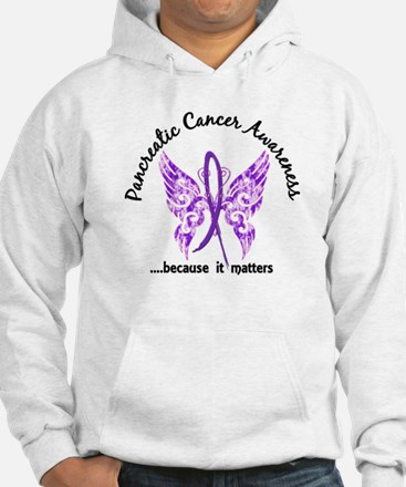 Pancreatic Cancer Butterfly 6.1 Hoodie