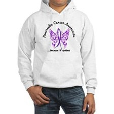 Pancreatic Cancer Butterfly 6.1 Hoodie Sweatshirt