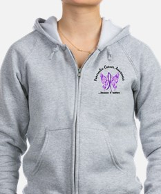 Pancreatic Cancer Butterfly 6.1 Zip Hoodie