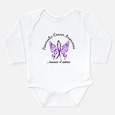 Pancreatic Cancer Butt Long Sleeve Infant Bodysuit