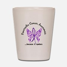 Pancreatic Cancer Butterfly 6.1 Shot Glass