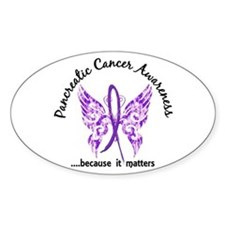 Pancreatic Cancer Butterfly 6.1 Decal