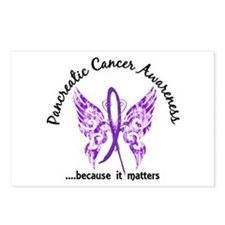 Pancreatic Cancer Butterf Postcards (Package of 8)