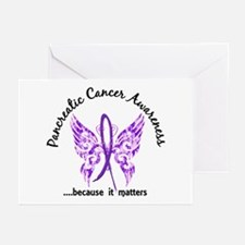 Pancreatic Cancer Butter Greeting Cards (Pk of 20)