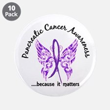 "Pancreatic Cancer Butterfly 3.5"" Button (10 pack)"