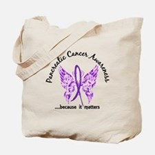 Pancreatic Cancer Butterfly 6.1 Tote Bag