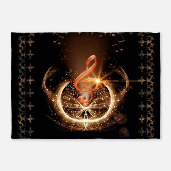 Music, clef with awesome light effect 5'x7'Area Ru