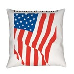 American Flag Long May it Wav Everyday Pillow