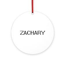 Zachary Digital Name Design Ornament (Round)