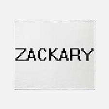 Zackary Digital Name Design Throw Blanket