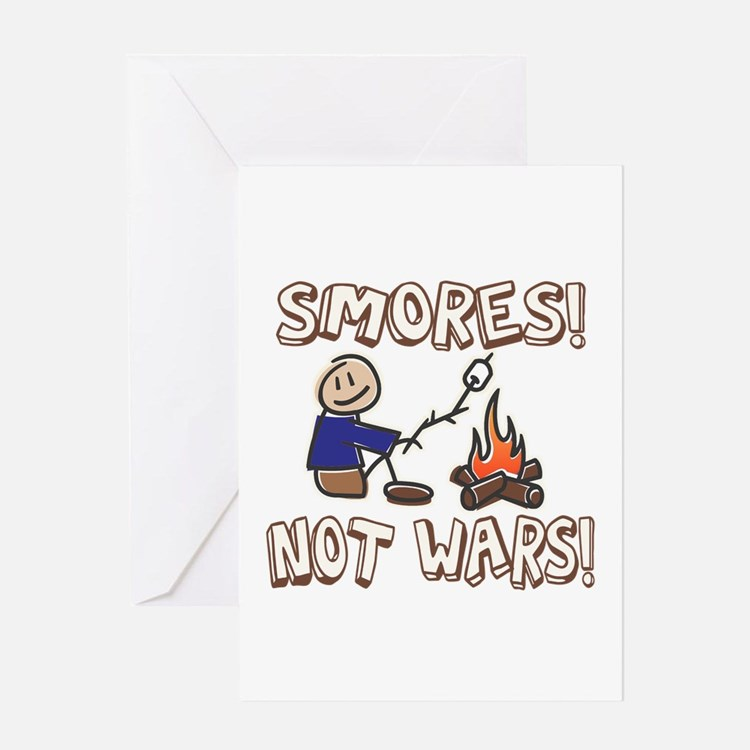 S'mores Not Wars! SMORES Greeting Card