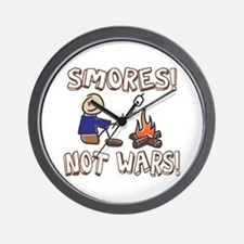S'mores Not Wars! SMORES Wall Clock