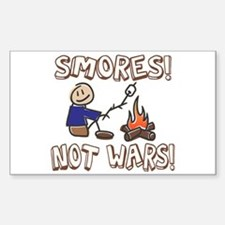S'mores Not Wars! SMORES Rectangle Decal