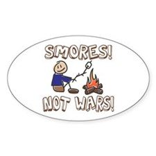 S'mores Not Wars! SMORES Oval Stickers