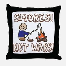 S'mores Not Wars! SMORES Throw Pillow