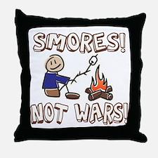 S'mores Not Wars! SMORES Throw Pillow