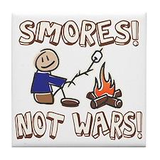 S'mores Not Wars! SMORES Tile Coaster