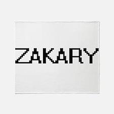 Zakary Digital Name Design Throw Blanket