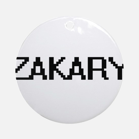 Zakary Digital Name Design Ornament (Round)