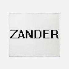 Zander Digital Name Design Throw Blanket