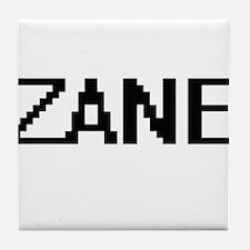 Zane Digital Name Design Tile Coaster