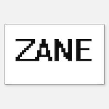 Zane Digital Name Design Decal