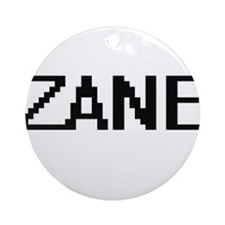 Zane Digital Name Design Ornament (Round)