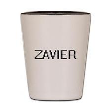 Zavier Digital Name Design Shot Glass