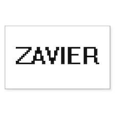 Zavier Digital Name Design Decal