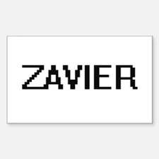 Zavier Digital Name Design Decal