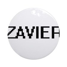 Zavier Digital Name Design Ornament (Round)