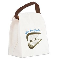 Wear Your Goggles Canvas Lunch Bag