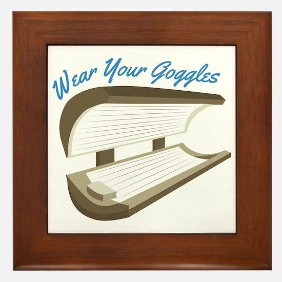 Wear Your Goggles Framed Tile