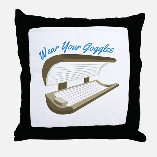 Wear Your Goggles Throw Pillow