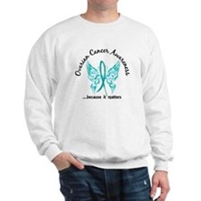 Ovarian Cancer Butterfly 6.1 Sweatshirt
