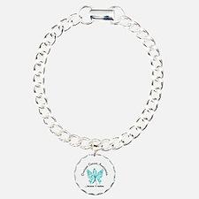 Ovarian Cancer Butterfly Bracelet