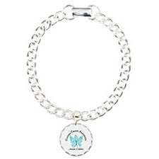 Ovarian Cancer Butterfly Charm Bracelet, One Charm
