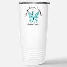 Ovarian Cancer Butterfl Travel Mug