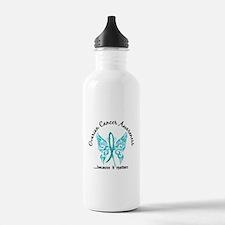 Ovarian Cancer Butterf Water Bottle