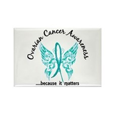Ovarian Cancer Butterfly 6.1 Rectangle Magnet