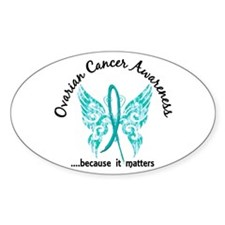 Ovarian Cancer Butterfly 6.1 Decal