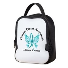Ovarian Cancer Butterfly 6.1 Neoprene Lunch Bag