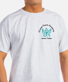 Ovarian Cancer Butterfly 6.1 T-Shirt