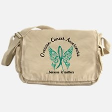 Ovarian Cancer Butterfly 6.1 Messenger Bag