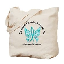 Ovarian Cancer Butterfly 6.1 Tote Bag