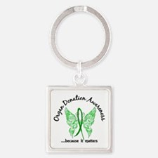 Organ Donation Butterfly 6.1 Square Keychain