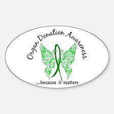 Organ Donation Butterfly 6.1 Sticker (Oval)
