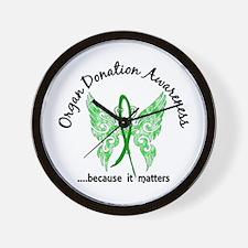 Organ Donation Butterfly 6.1 Wall Clock