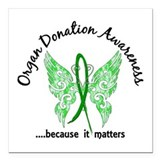 Organ donor Square Car Magnets