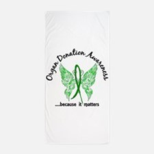 Organ Donation Butterfly 6.1 Beach Towel